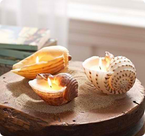 Seashell Candles | 15 Easy Seashell Crafts To Bring The Beach Indoors