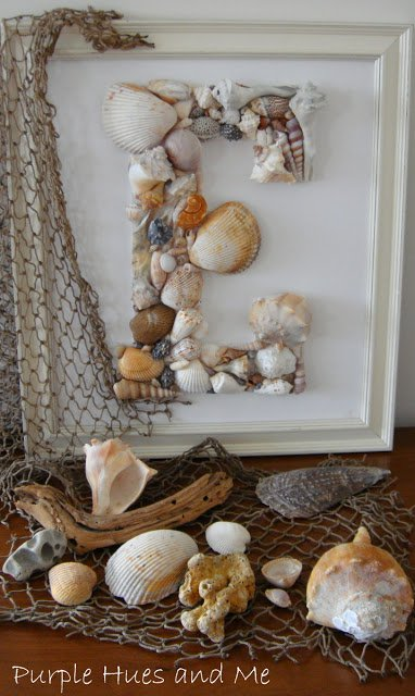 Seashell Monogram | 15 Easy Seashell Crafts To Bring The Beach Indoors