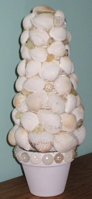 Seashell Topiary | 15 Easy Seashell Crafts To Bring The Beach Indoors