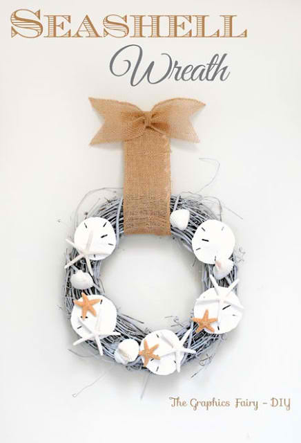 Seashell Wreath | 15 Easy Seashell Crafts To Bring The Beach Indoors