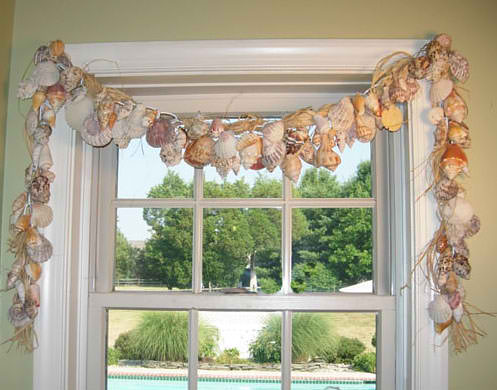 Shell Window Valance | 15 Easy Seashell Crafts To Bring The Beach Indoors