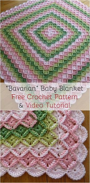 Bavarian Crochet Baby Blanket Free Crochet Pattern And Video
