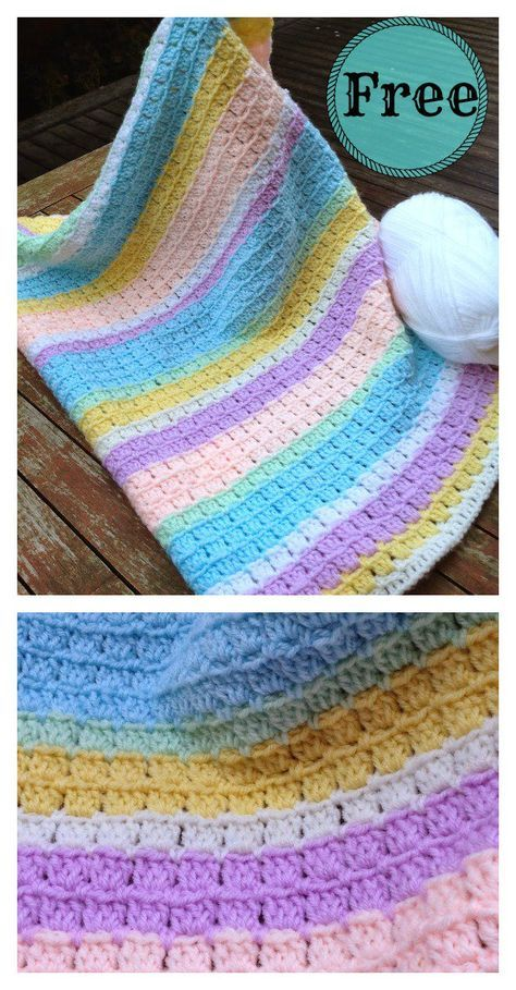 Free Crochet Pattern Block Stitch Baby Blanket New Craft Works