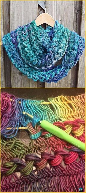 Braided Hairpin Lace Infinity Scarf Free Crochet Pattern New