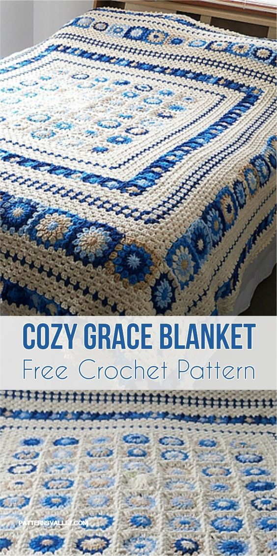 Cozy Grace Blanket - Free Crochet Pattern - New Craft Works