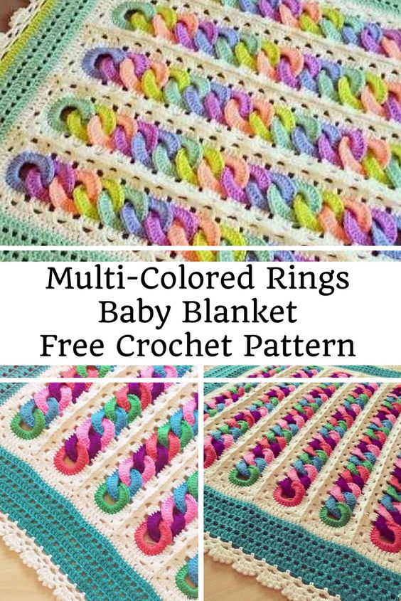 Multi Colored Rings Baby Blanket Free Crochet Pattern New Craft