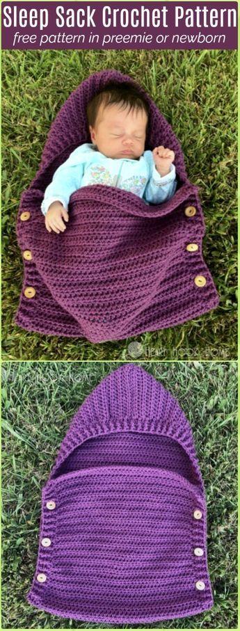 Newborn Sleep Sack Free Crochet Pattern New Craft Works
