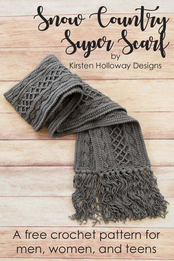 Snow Country Super Scarf Free Crochet Pattern New