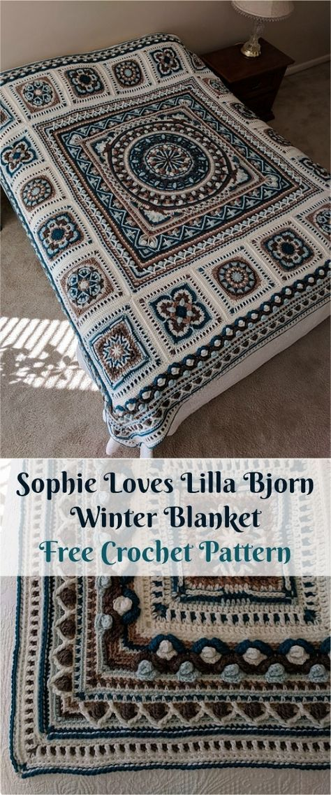 Sophie Loves Lilla Bjorn Winter Blanket - Free Crochet Pattern - New ...