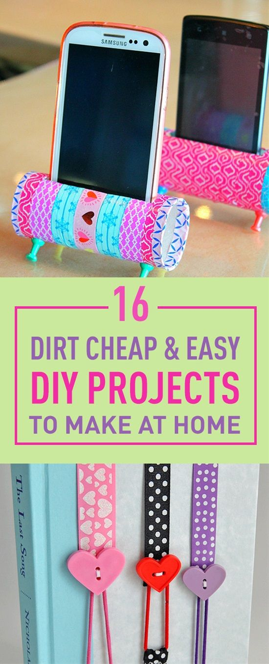 16 Dirt Easy Diy Projects To Make At Home New Craft Works