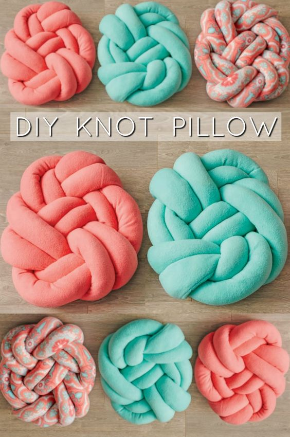 Diy Knotted Fleece Pillow Free Sewing Pattern New Craft Works