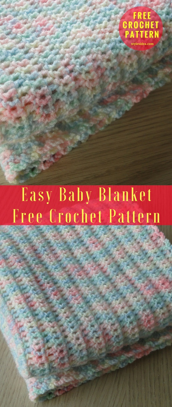 Easy Baby Blanket Free Crochet Pattern New Craft Works