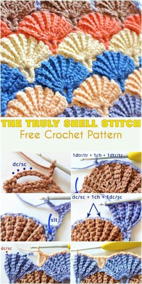 Free Crochet Pattern - Truly Shell Stitch - New Craft Works