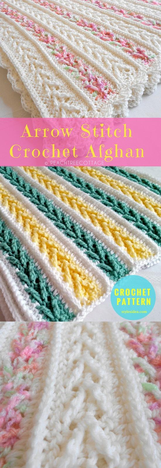 Arrow Stitch Crochet Afghan Free Crochet Pattern New Craft Works