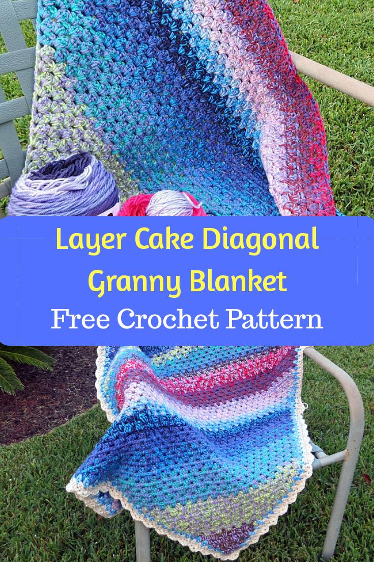 Layer Cake Diagonal Granny Blanket Free Crochet Pattern New Craft Works