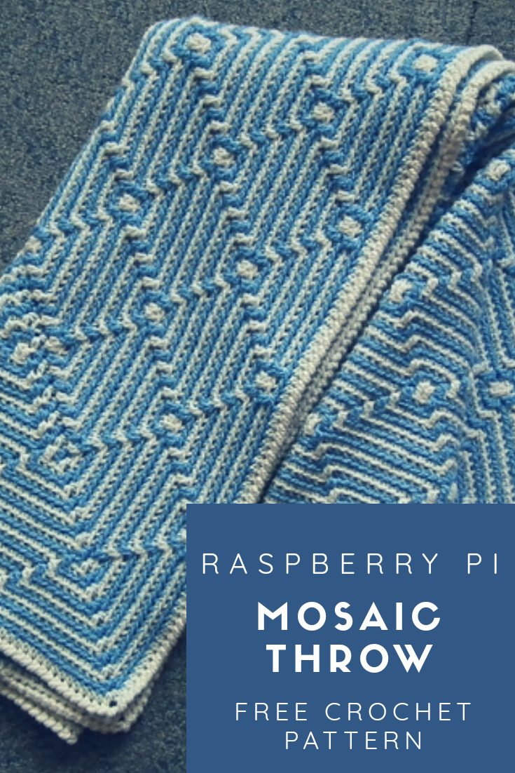 Raspberry Pi Mosaic Throw Free Crochet Pattern New Craft Works