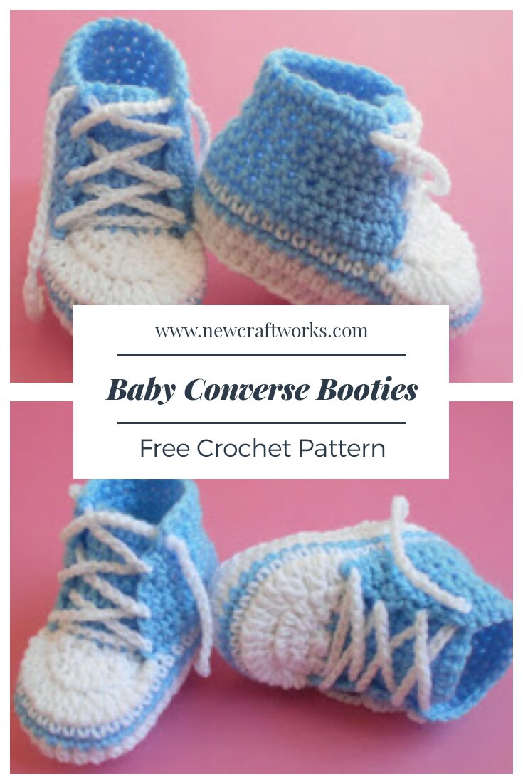 Baby Converse Booties Free Crochet Pattern New Craft Works