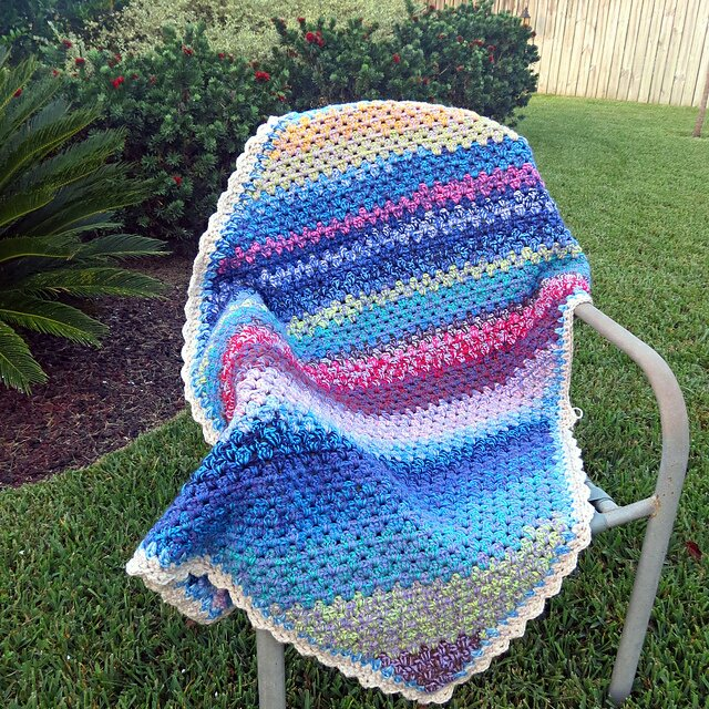 Layer Cake Diagonal Granny Blanket - Free Crochet Pattern - New