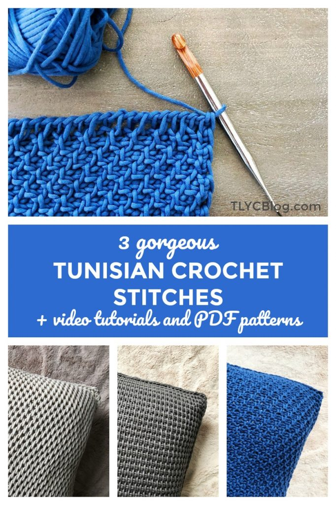 3 Beginner Friendly Tunisian Crochet Stitches Free Crochet Pattern