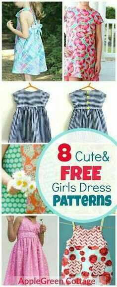 8 Adorable & Free Little Girl Dress Patterns