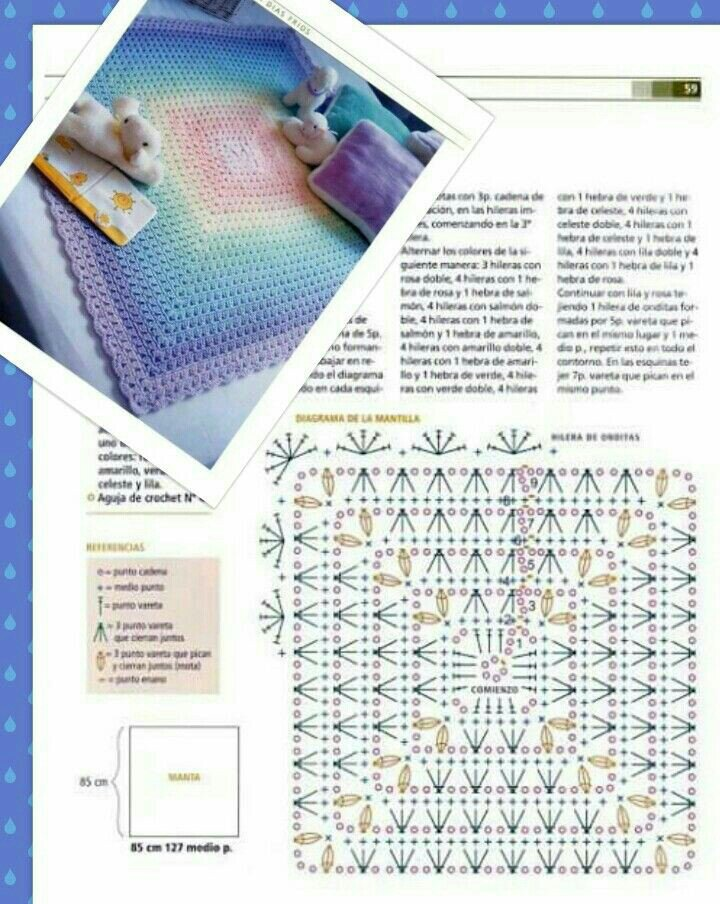 Arco Iris Baby Blanket Free Crochet Pattern Chart New Craft Works